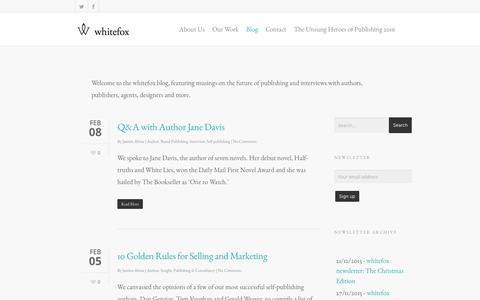 Screenshot of Blog wearewhitefox.com - Blog - whitefox - captured Feb. 14, 2016