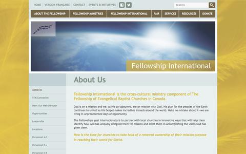 Screenshot of About Page fellowship.ca - Fellowship.ca - About Us - captured Oct. 5, 2014