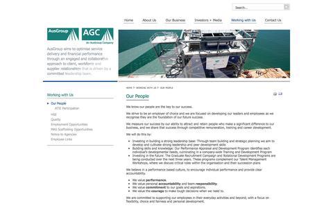 Screenshot of Team Page agc-ausgroup.com - Our People - AGC/AusGroup - captured Oct. 4, 2014