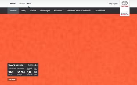 Screenshot of Home Page toyota.nl - Welkom bij Toyota Nederland - captured Sept. 23, 2014
