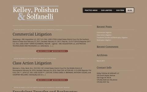 Screenshot of Blog kpwslaw.com - Blog - Kelley, Polishan, & Solfanelli - captured Oct. 17, 2017