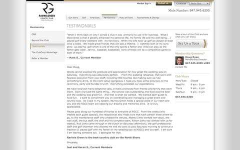 Screenshot of Testimonials Page clubcorp.com - Testimonials   Ravinia Green Club   Riverwoods IL - captured Dec. 12, 2016