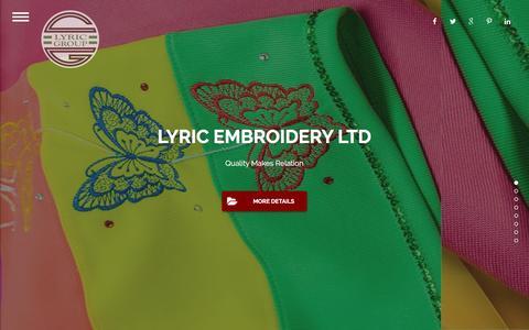 Screenshot of Home Page lyricgroup.com.bd - Lyric Group - captured Nov. 16, 2016