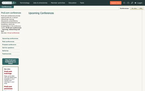 ProZ.com Translator Conferences
