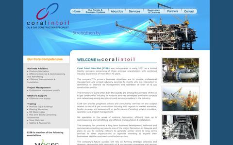 Screenshot of Home Page coralintoil.com - Coralintoil | Home - captured Oct. 3, 2014