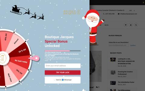 Screenshot of Blog boutiquejacques.com - ExecStyle – Boutique Jacques International - captured Dec. 19, 2018