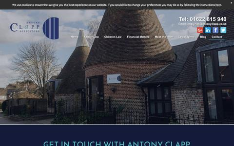 Screenshot of Contact Page antonyclappsolicitors.co.uk - Contact our Family and Child Solicitors in Maidstone, Kent - captured May 30, 2017