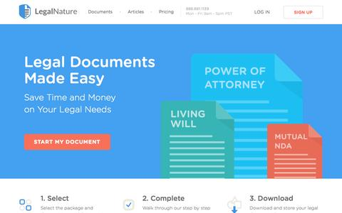 Legal Documents, Legal Forms, Legal Services | LegalNature