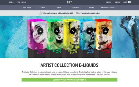 Artist Collection E-Liquids | NJOY