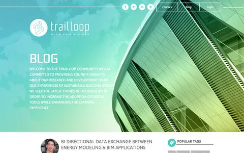 Screenshot of Blog trailloop.com - Trailloop Blog | Sustainable Building Design | Green Building Education | BIM | Energy Modeling | Green BuildingTrailloop - captured Oct. 7, 2014
