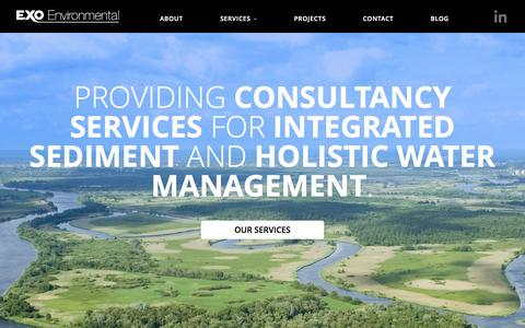 Screenshot of Home Page exo-env.com - Exo Environmental - Consultancy Services for Hydraulic Engineering - captured Oct. 3, 2014