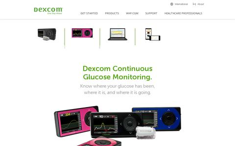 Screenshot of Products Page dexcom.com - Products | Dexcom - captured July 20, 2014