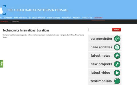 Screenshot of Locations Page techenomics.net - Locations - techenomics.net - captured Oct. 18, 2018