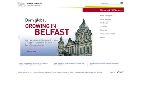 Screenshot of Home Page Locations Page bakermckenzie.com - Baker & McKenzie - captured Sept. 24, 2014