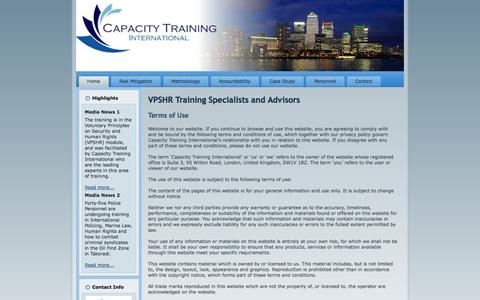 Screenshot of Terms Page capacity-training-international.com - Capacity Training International - VPSHR Training Specialists and Advisors - captured Sept. 29, 2014