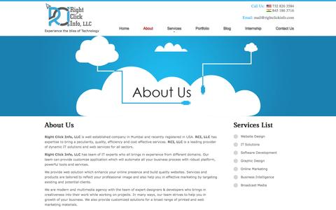 Screenshot of About Page rightclickinfo.com - Best web design company in navi mumbai - captured Nov. 2, 2014