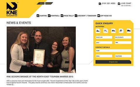Screenshot of Press Page kartingnortheast.com - Latest News from Karting North East - captured Jan. 9, 2016