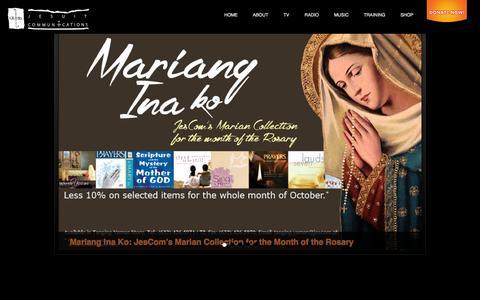 Screenshot of Home Page jescom.ph - Jesuit Communications - captured Oct. 6, 2014