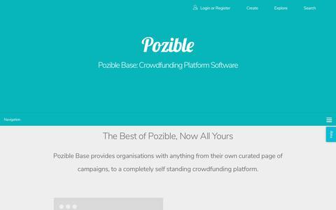 Screenshot of pozible.com - Pozible - Crowdfunding Platform Software - captured Aug. 5, 2017