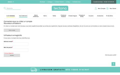 Screenshot of Login Page tectona.net - Login du client - captured June 29, 2017