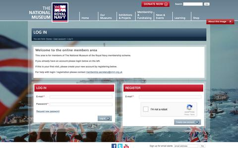 Screenshot of Login Page nmrn.org.uk - Log in | National Museum of the Royal Navy - captured Oct. 23, 2017