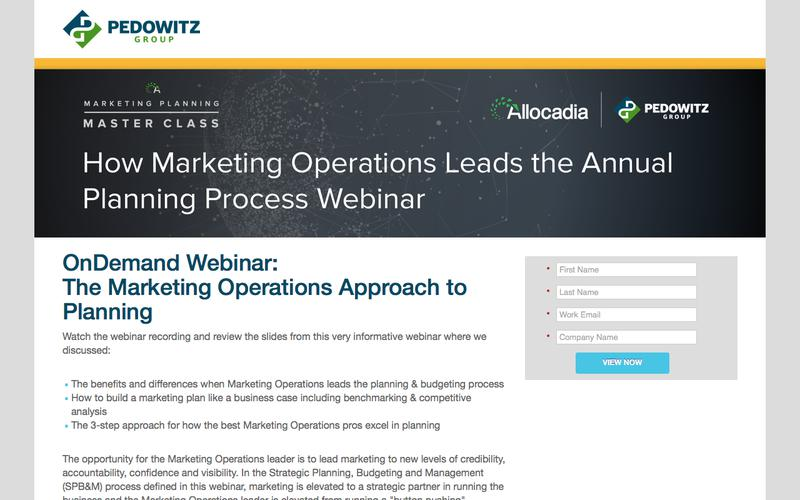 OnDemand Webinar: The Marketing Operations Approach to Planning