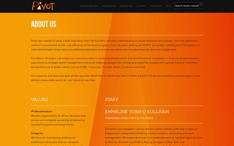 Screenshot of About Page pivot-marketing.com - About Us | Pivot Marketing - captured Sept. 30, 2014