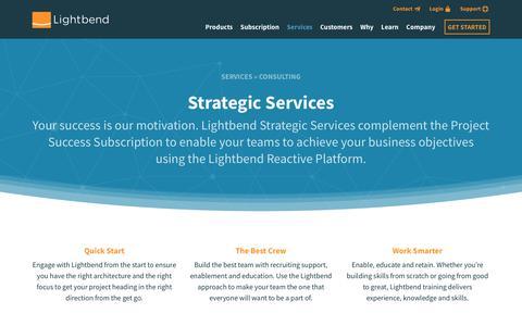 Screenshot of Services Page lightbend.com - Lightbend Production | @lightbend - captured Aug. 16, 2017