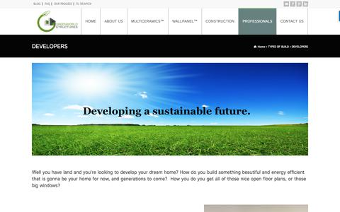 Screenshot of Developers Page greenworldstructures.com - DEVELOPERS - Greenworld Structures - captured Sept. 24, 2017
