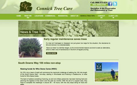 Screenshot of Press Page connicktreecare.co.uk - News & Tree Tips From The Tree Care Experts | Connick Tree Care - captured July 20, 2018