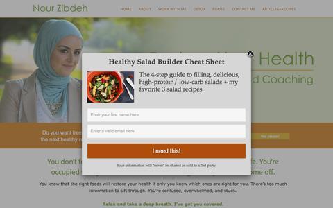 Screenshot of Home Page nourzibdeh.com - Home - Nour Zibdeh - captured Dec. 26, 2016
