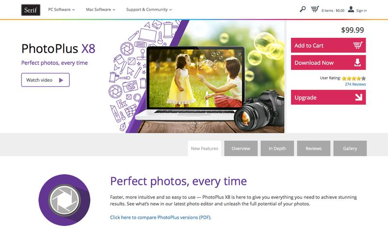 PhotoPlus X8 – Powerful photo editing software from Serif
