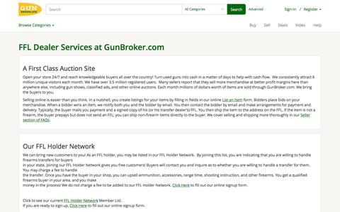 FFL Dealer Services at GunBroker.com | user's Blog!
