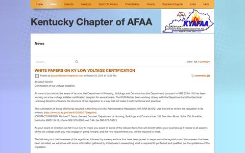 Screenshot of Blog Press Page kyafaa.org - News - captured Oct. 15, 2018