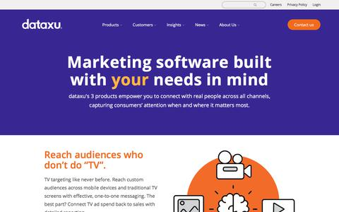 Screenshot of Products Page dataxu.com - dataxu | Simple, intuitive marketing software. Built for you. - captured April 26, 2018