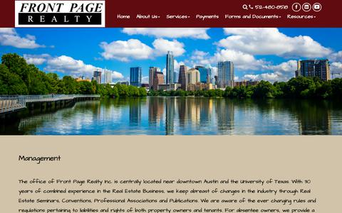 Screenshot of Team Page frontpageproperties.com - Austin Property Management | Property Management Austin | Front Page Realty - captured Oct. 11, 2018