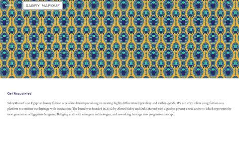 Screenshot of About Page sabrymarouf.com - Get Acquainted  - Sabry Marouf - captured Nov. 17, 2016