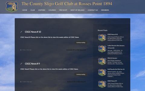 Screenshot of Press Page countysligogolfclub.ie - Category: News Archives - The County Sligo Golf Club - The County Sligo Golf Club - captured Jan. 29, 2016