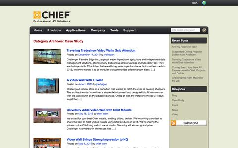 Screenshot of Case Studies Page chiefmfg.com - Case Study Archives | Chief News - captured Jan. 27, 2016