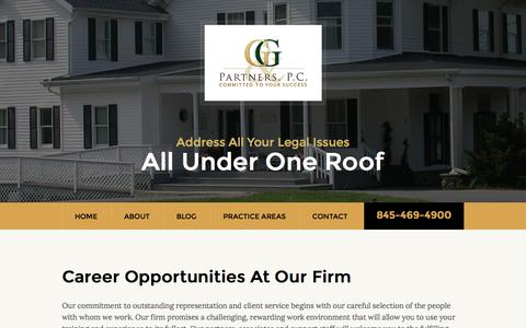Screenshot of Jobs Page greenwaldlaw.com - Career Opportunities At Our Firm | Gary Greenwald and Partners P.C. - captured Nov. 16, 2016