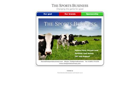 Screenshot of Contact Page thesportsbusiness.com - The Sports Business - Changing the game for good - captured Oct. 9, 2014