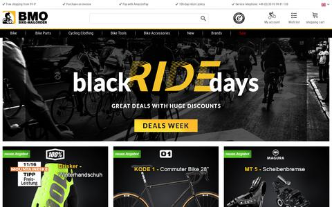 Screenshot of Home Page bike-mailorder.com - BMO Bike Mailorder❖Order Bikes, Parts & Clothing now! - captured Nov. 26, 2018
