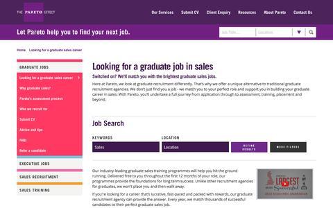 Graduate Careers in Sales | Graduate Jobs | Pareto