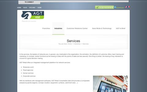 Screenshot of Services Page agt-retail.com - AGT Retail, Replicate your success,   Services - captured July 23, 2016