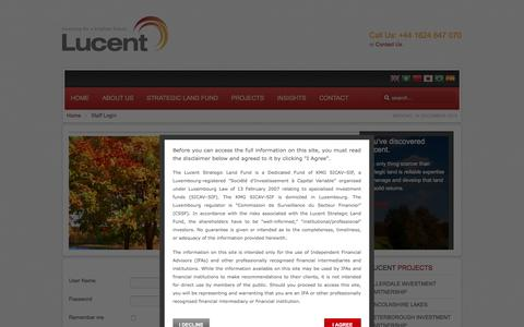 Screenshot of Login Page lucentgroup.co.uk - Staff Login - captured Dec. 13, 2015