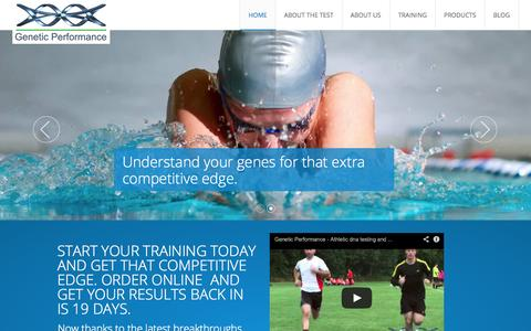Screenshot of Home Page geneticperformance.com - Home - Genetic Performance - Genetic Performance - captured Oct. 2, 2014