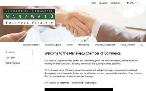 Screenshot of About Page manawatuchamber.co.nz - About Us - Manawatu Chamber of Commerce - captured Oct. 2, 2018