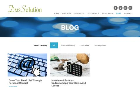 Screenshot of Blog dmssolutioncpa.com - Blog - DMS Solution CPA - captured Nov. 23, 2016