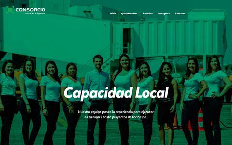 Screenshot of Home Page consorciocargo.com - Consorcio Cargo & Logistics - Freight Forwarding y Agenciamiento Logístico - captured Nov. 9, 2018