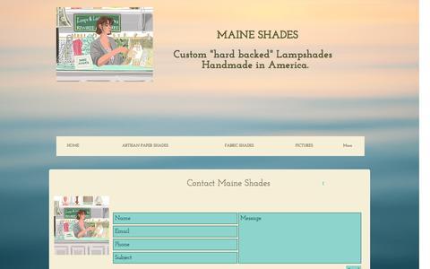 Screenshot of Contact Page maineshades.com - Contact maine Shades - captured May 10, 2017